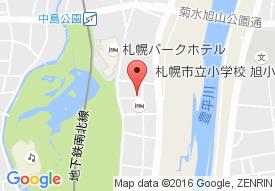 グランウエルネス中島公園 天然温泉翡翠楼の地図