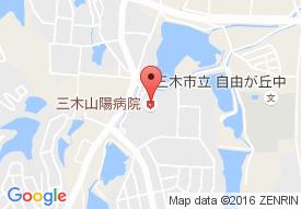三木山陽病院の地図
