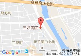 三好病院の地図